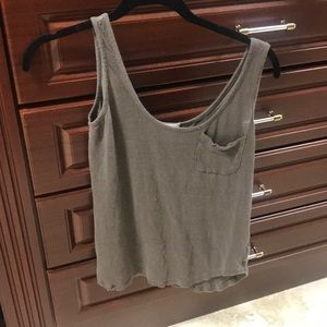 AG JEANS brown pocket tank top small